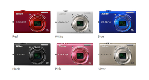 Nikon Coolpix S6200 Colours