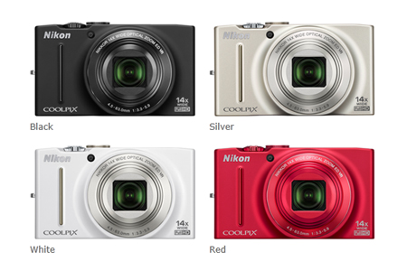 Nikon Coolpix S8200 Colours