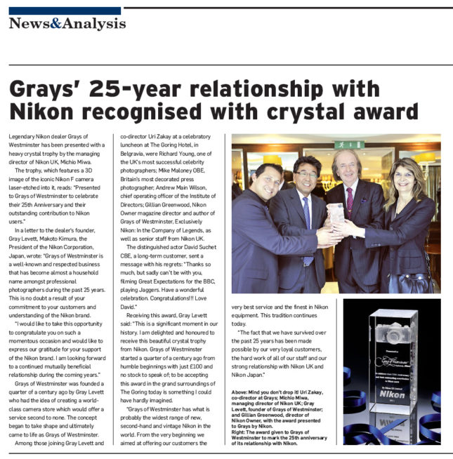 BPI Magazine Article - Grays of Westminster