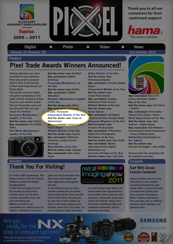 Pixel e-magazine - 4th October Issue