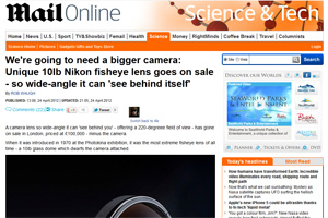 Daily Mail - Fisheye Lens Article