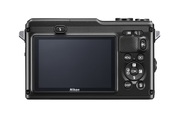Rear view of the Nikon 1 AW 1 camera
