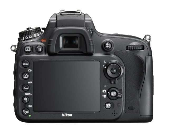 The Nikon D610, rear view