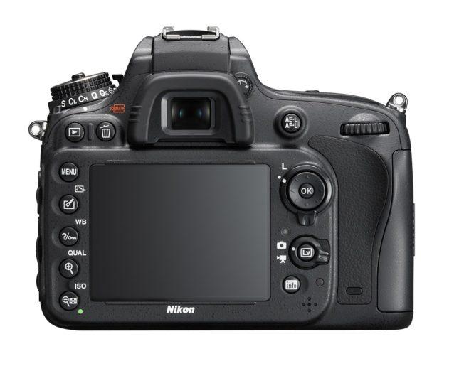 The Nikon D610, rear view