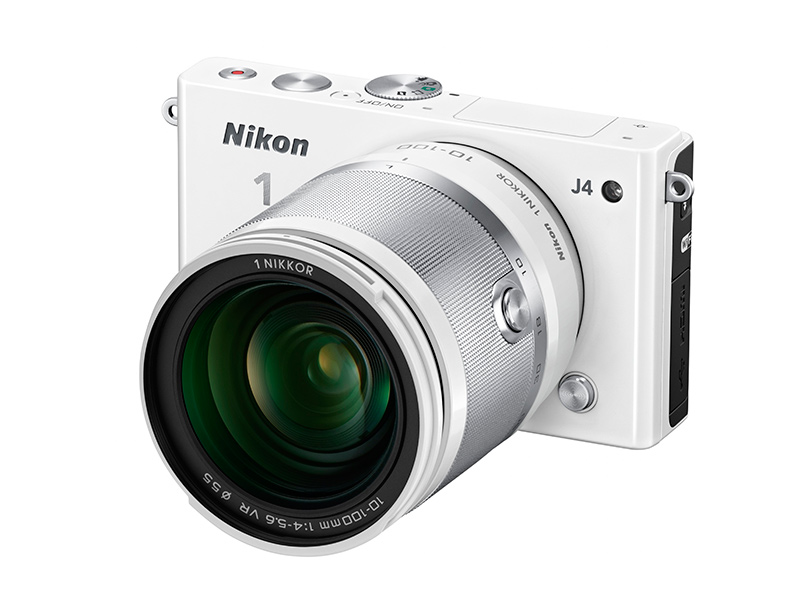 Nikon 1 J4 with the 10–100mm zoom lens