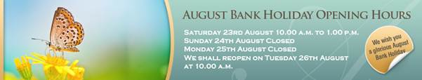 Grays of Westminster August Bank Holiday Opening Hours