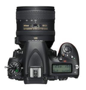 New Nikon D750 DSLR top