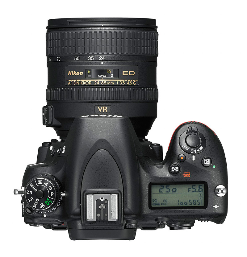 New Nikon D750 DSLR top
