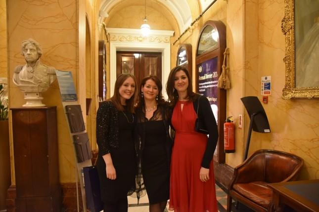 Grays of Westminster Christmas Dinner: Caroline Nolan, Tabitha Hardy, Becky Danese