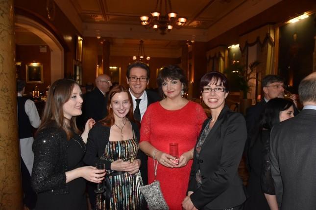 Grays of Westminster Christmas Dinner: Caroline Nolan, Katrin Ruckert, Raffi Silvanian, Tara Gibson, Sarah Eicker