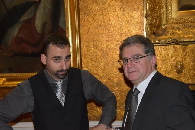 Grays of Westminster Christmas Dinner: Pablo Monteagudo, Mike Eleftheriades