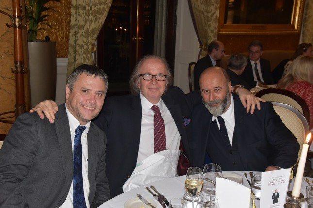 Grays of Westminster Christmas Dinner: Nigel Atherton Group Editor of AP, Gray Levett, Richard Young