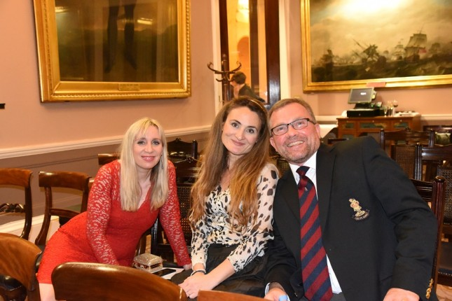 Grays of Westminster Christmas Dinner: Debbie Hughes, Christina Eleftheriades, Steve Hughes