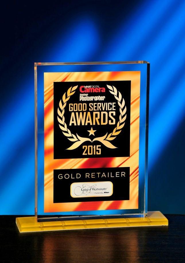 Gold Retailer Good Service Award 2015