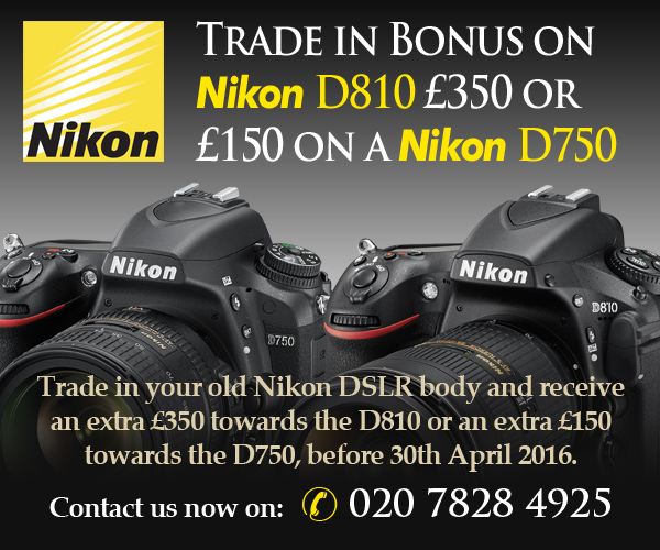 Trade in Bonus D810 and D750